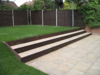 Norwich-patio-sloped garden